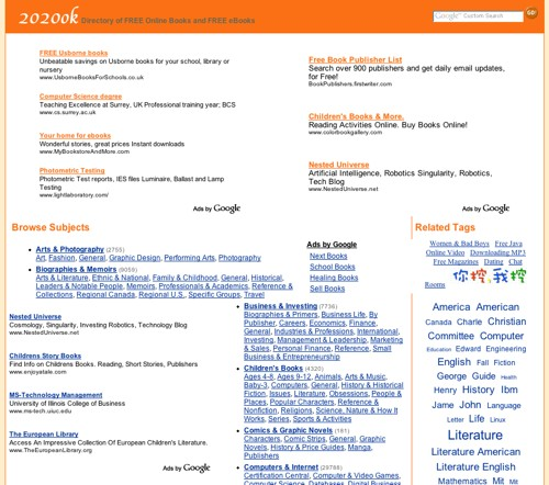 A snapshot of 2020ok.com