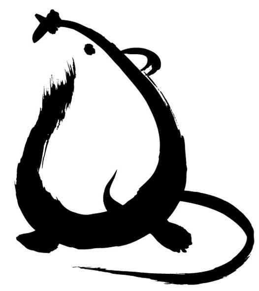 일본 우체국에서 퍼왔다던 쥐 일러스트