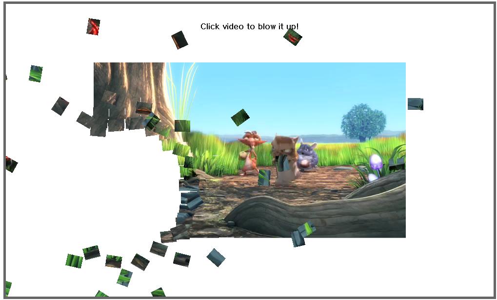 HTML5 video demo screenshot