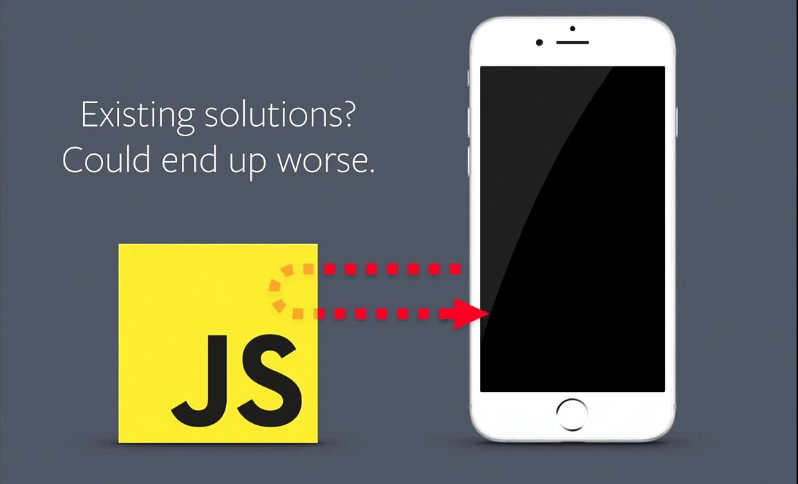 느린 자바스크립트는 UI 성능에 병목 현상을 일으킬 수 있다.